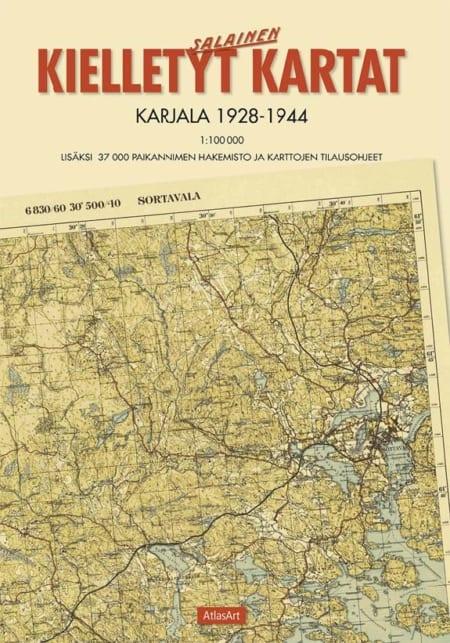 Kielletyt kartat: Karjala 1928—1944 -kirjan kansikuva