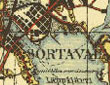 Karttakuva Luovutetun Karjalan kartasta