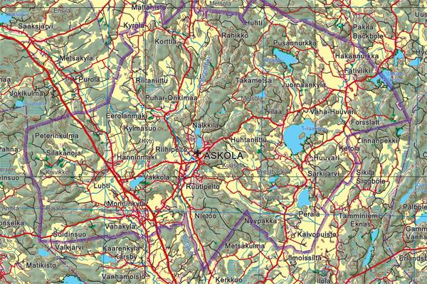 Atlasart Varjostekartta Uudenaikainen Maastokartta